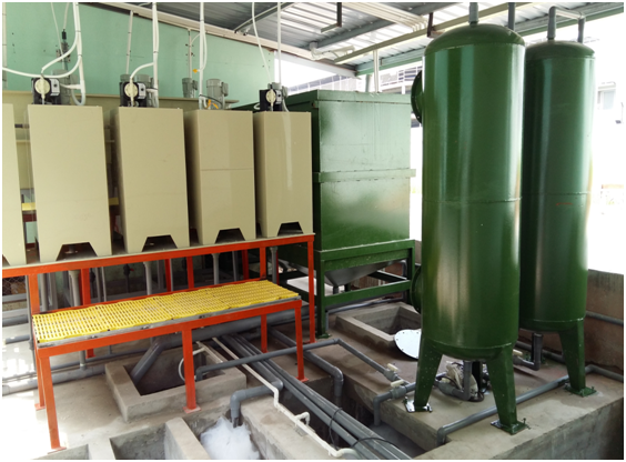 Galvanized sewage treatment system